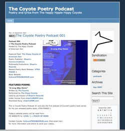 Web Blog of Coyote Poetry